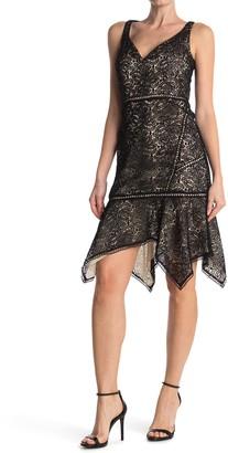 Elie Tahari Mariya Handkerchief Hem Lace Dress