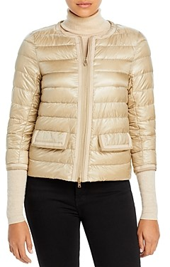 Herno Two-Tone Trimmed Down Jacket
