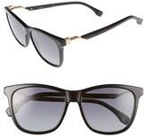 Fendi Women's 55Mm Cube Retro Sunglasses - Black