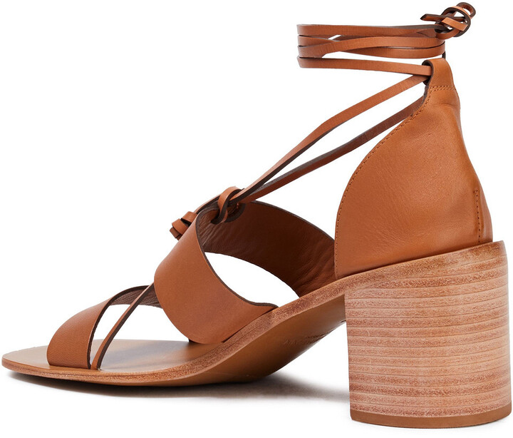Thumbnail for your product : Zimmermann Lace-up Leather Sandals