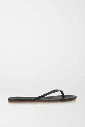 TKEES Lily Matte-leather Flip Flops - Black