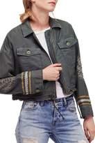 Free People Embellished Military Jacket