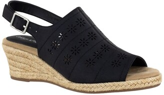 Easy Street Shoes Joann Perforated Wedge Sandal - Multiple Widths Available