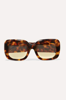 Linda Farrow Square-frame Tortoiseshell Acetate Sunglasses - Black