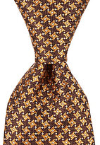Roundtree & Yorke Trademark Houndstooth Dot Traditional Silk Tie