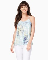 Charming charlie Poppy Printed Lace Cami