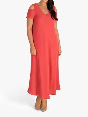 Chesca V-Neck Maxi Dress, Coral