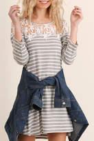 Umgee USA Striped Tee Dress