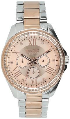 Versus Women's Elmont Swarovski Crystal Accent Two-Tone Bracelet Watch, 40mm