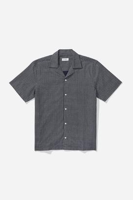 Saturdays NYC Canty Indigo Stripe S/S Shirt