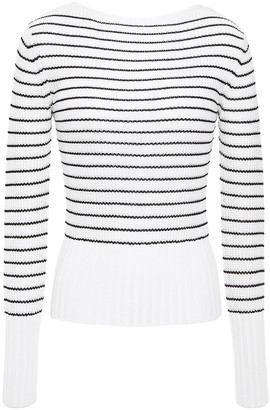 Theory Striped Ribbed-knit Sweater