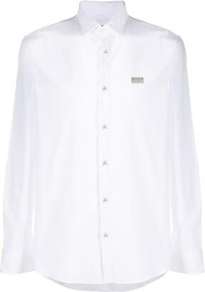 Philipp Plein Logo Plaque Long Sleeve Shirt