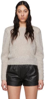 Isabel Marant Grey Mohair Idona Crewneck Sweater