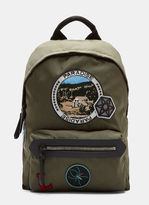 Lanvin Camping Patch Technical Canvas Backpack In Khaki