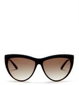 L.A.M.B. Women&s Full Rim Studded Cat Eye Sunglasses