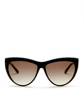 L.A.M.B. Women's Full Rim Studded Cat Eye Sunglasses