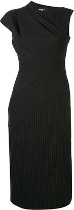 Paule Ka Pinstripe Draped Dress