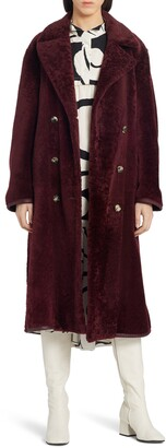 Marni Double Breasted Genuine Shearling Coat