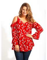 Kurt Geiger Lovedrobe GB Floral Cold Shoulder Blouse