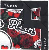 Philipp Plein floral embroidered scarf