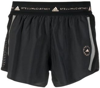 adidas by Stella McCartney TruePace logo-print shorts