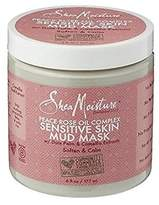 Shea Moisture Peace Rose Oil Complex Sensitive Skin Mud Mask for Unisex, 6 Ounce