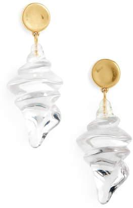 Madewell Resin Shell Statement Earrings