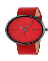 Simplify Unisex Red Strap Watch-Sim4406