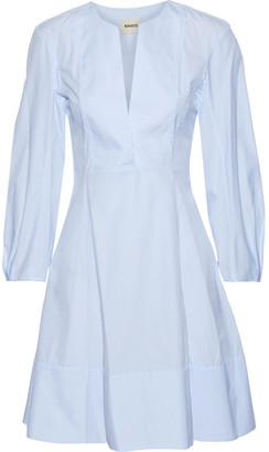 KHAITE Vanessa Flared Cotton-poplin Mini Dress