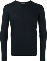 Laneus ribbed trim jumper - men - Silk/Cashmere - 46