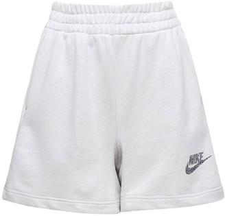 Nike Logo Cotton Blend Sweat Shorts
