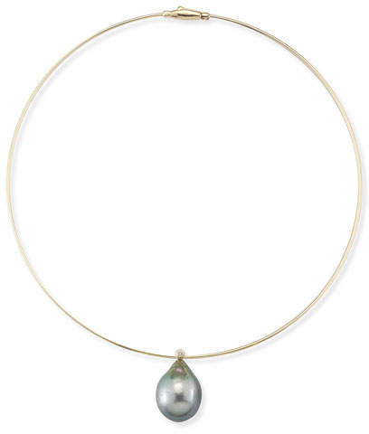 Mizuki Tahitian Pearl & Diamond Collar Necklace