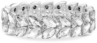 Jon Richard Jewellery Silver, Plated, Leaf, Stone, Stretch, Bracelet