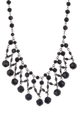Carolee Faceted Bead Bib Frontal Necklace