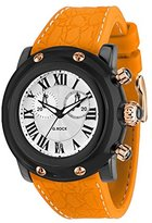 Glam Rock Unisex Miami Beach 46mm Orange Silicone Band Polycarbonate Case Quartz White Dial Watch GR2516