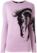 Fausto Puglisi horse pattern jumper - women - Virgin Wool - 38