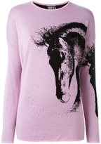 Fausto Puglisi horse pattern jumper