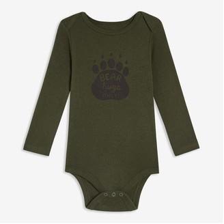 Joe Fresh Baby Boys' Graphic Print Bodysuit, Bright Orange (Size 6-12)