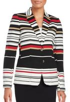 Tommy Hilfiger Striped Two-Button Blazer