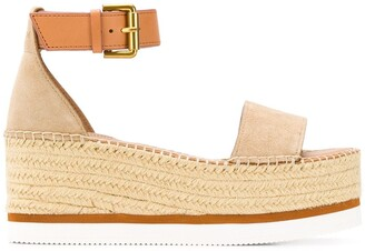See by Chloe Braided-Jute Platform Sandals