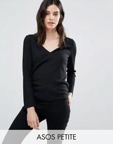 Asos Fitted V Neck T-Shirt In Slub