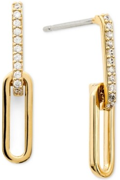 AVA NADRI Cubic Zirconia Link Double Drop Earrings