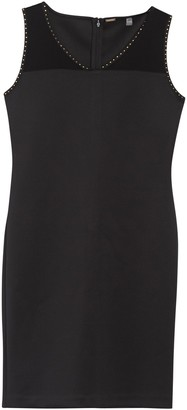 T Tahari Studded Trim Sleeveless Shift Dress
