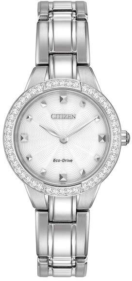Citizen Women's Eco-Drive Stainless Crystal Bezel Bracelet Watch, 28mm