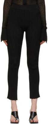 System Black Slit Hem Lounge Pants