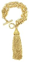 Ben-Amun Gold Chain Link Bracelet with Tassel