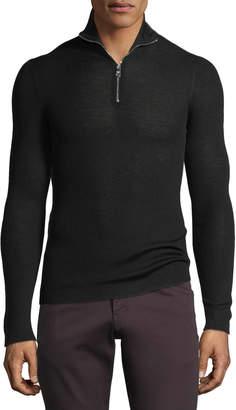 Prada Men's Quarter-Zip Wool Sweater