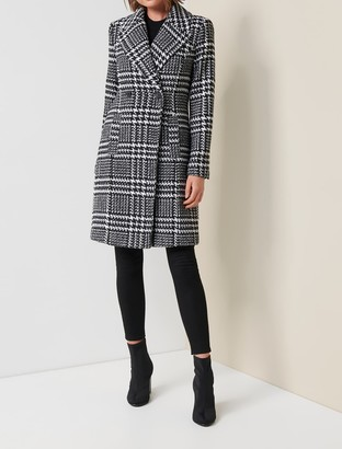 Ever New Jillian Houndstooth Coat
