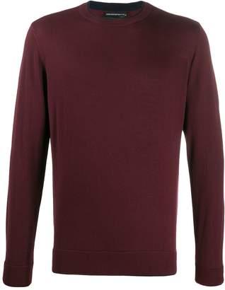 Emporio Armani plain fitted jumper