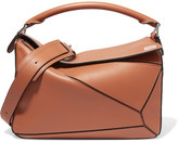 Loewe Puzzle Leather Shoulder Bag - Tan